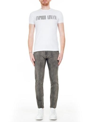 Emporio Armani S 6G1J10 Normal Bel Dar Paça Slim Fit Silik Erkek Jeans Pantolon Yeşil